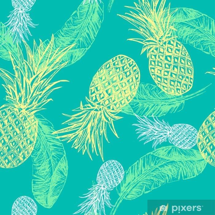 Vinilo Pixerstick Patrón transparente tropical. -