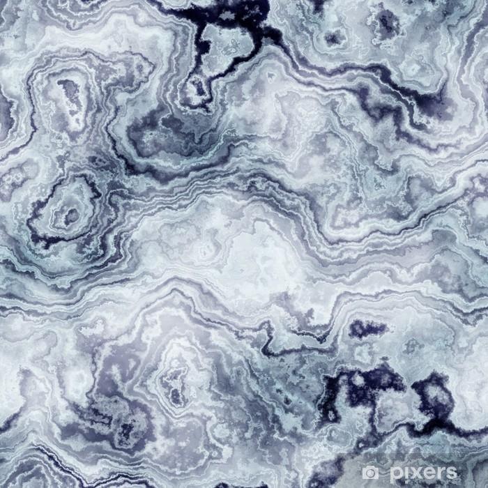 Alfombrilla de baño Textura sin fisuras del patrón de mármol azul para el fondo / ilustración - Recursos gráficos