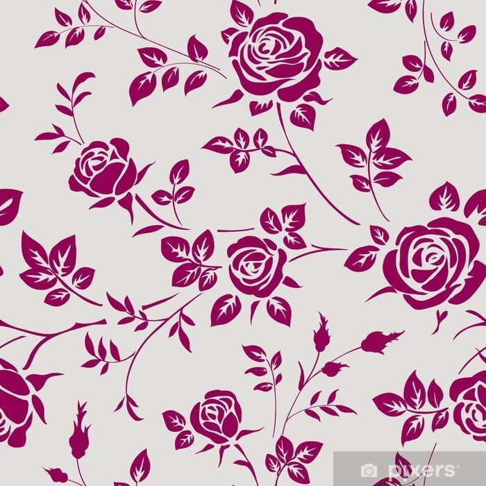 Naklejka Pixerstick Jednolite wzór z róż - Rośliny i kwiaty