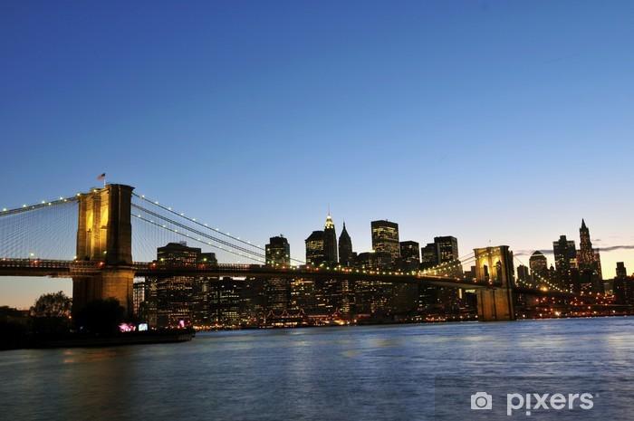Naklejka Pixerstick Brooklyn Bridge i dolnym Manhattanie - Brooklyn Bridge