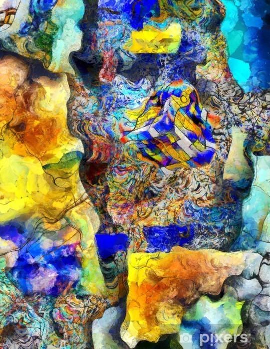 Vinyl Fotobehang Hoekige abstract. - Grafische Bronnen