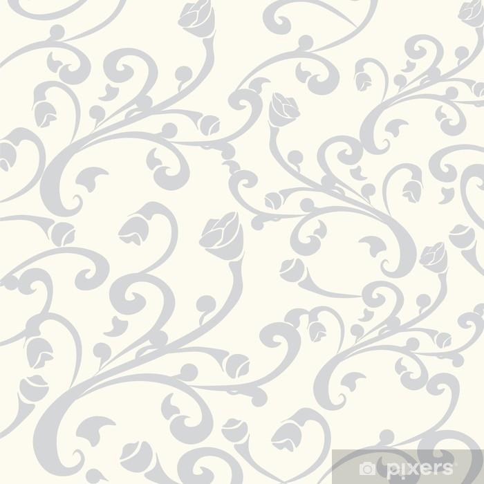 Naklejka na lodówkę Abstrakcyjny wzór kwiatowy ornament. wektor - Zasoby graficzne