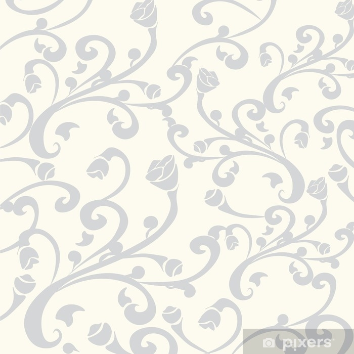 Abstract Floral ornament pattern. Vector Vinyl Wall Mural - Graphic Resources
