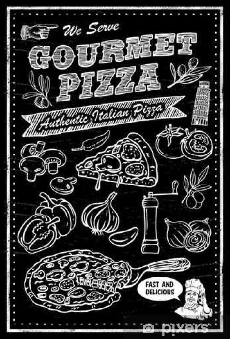 Fototapeta winylowa Tablica składniki pizzy - Jedzenie