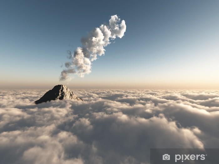 Zelfklevend Fotobehang Fantastische vlucht boven de wolken - Thema's
