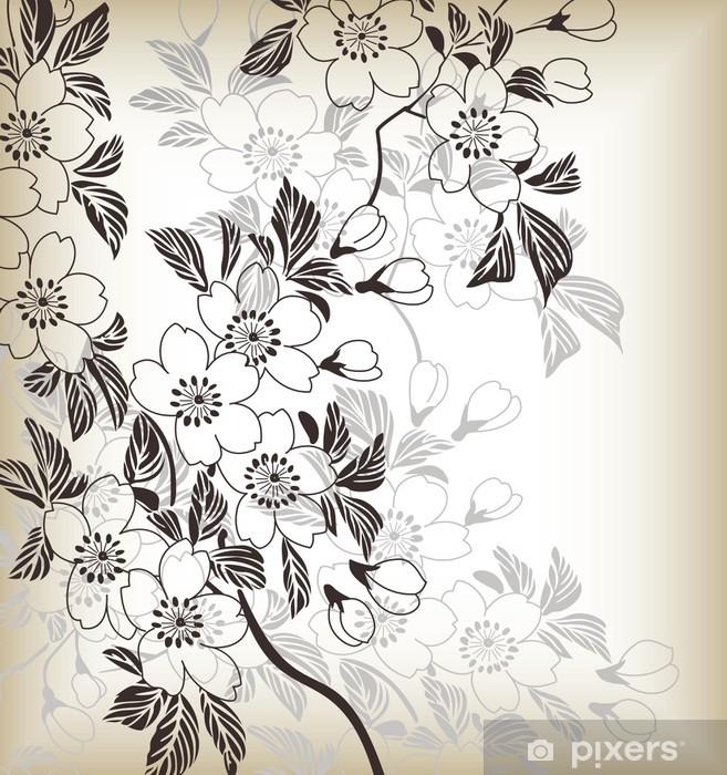 Carta Da Parati Stile Giapponese Floral Background Pixers