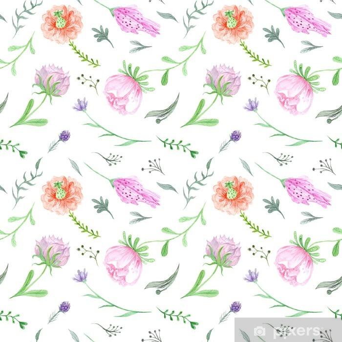 Nálepka Pixerstick Jarní Akvarel květinovým vzorem - Rostliny a květiny