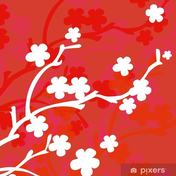 Fotobehang Fond Fleur Rose Oranje Rouge Blanc Pixers We Leven