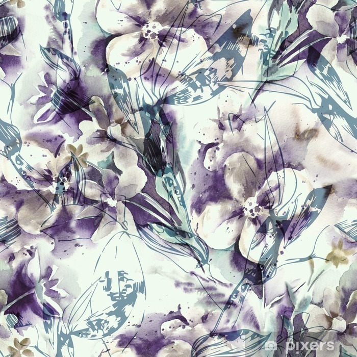 Papier peint vinyle Floral seamless pattern - Plantes et fleurs
