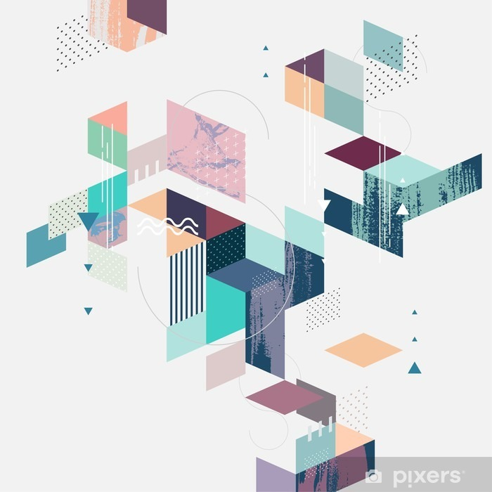 Abstract modern geometric background Vinyl Wall Mural - Graphic Resources