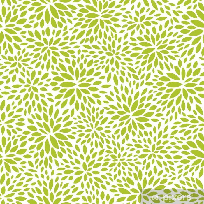 Seamless Abstract Green Leaf Pattern Foliage Vector Background Poster