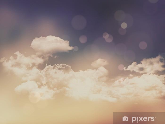 Naklejka Pixerstick Retro chmury i niebo w tle - Krajobrazy