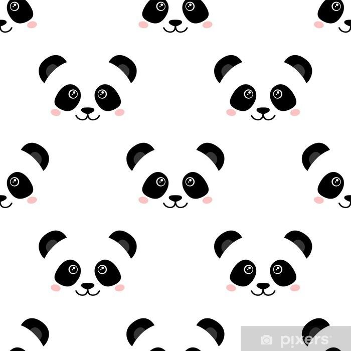 Vinilo Pixerstick Panda linda cara. Fondo de pantalla transparente - Animales