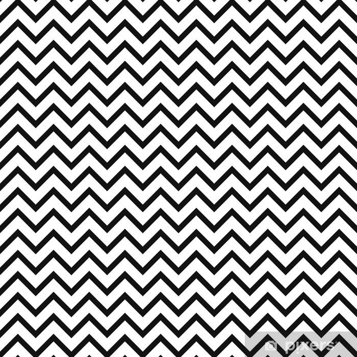 09afe455dedc0 Vinilo Pixerstick Chevron zigzag blanco y negro de patrones sin fisuras. vector  fondo monocromático rayas