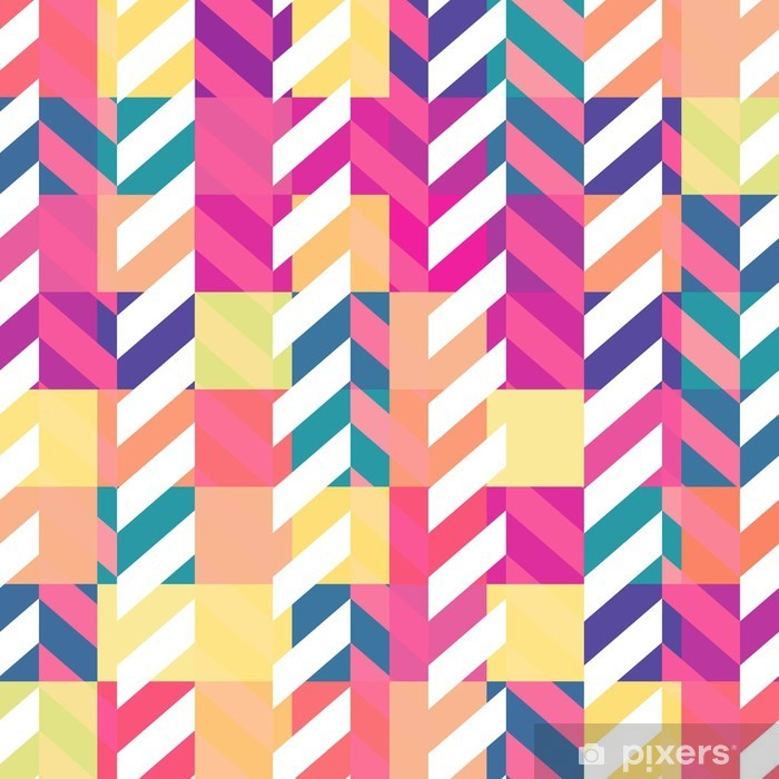 Seamless colorful geometric pattern Poster - Graphic Resources