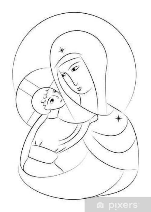 Carta Da Parati Beata Vergine Maria Madonna Col Bambino Icona