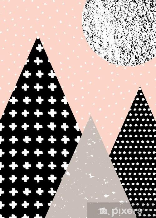 Pixerstick Sticker Abstracte Geometrische Landschap - Grafische Bronnen