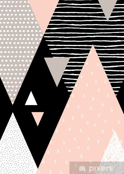 Pixerstick Sticker Abstracte Geometrische Landschap -