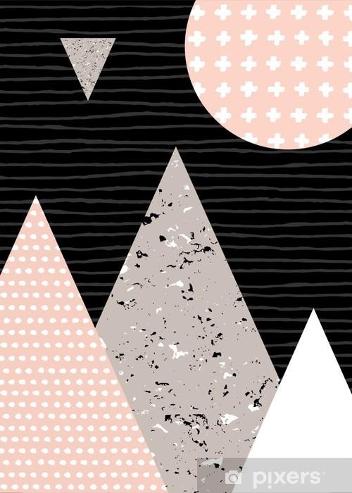 Skåpdekor Abstrakt geometrisk Liggande - Grafiska resurser