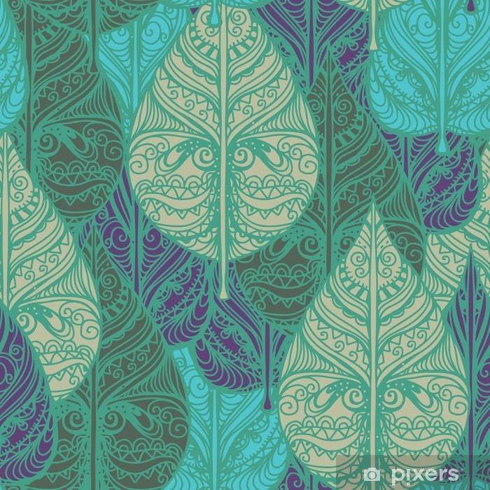Papier peint vinyle Seamless pattern avec des feuilles - Ressources graphiques