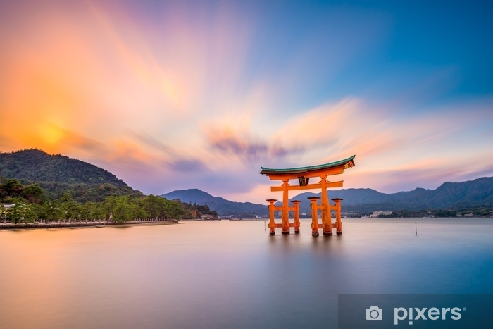 Miyajima Shrine Gate in Hiroshima, Japan. Vinyl Wall Mural - Travel