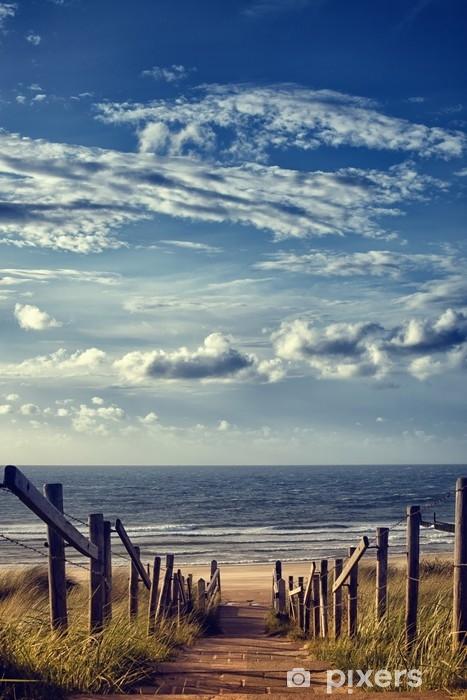 Vinilo Pixerstick Weg zum strand am meer - Viajes