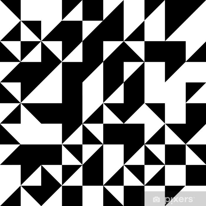 Papier Peint Modèle De Formes Géométriques Triangle. Noir Et Blanc