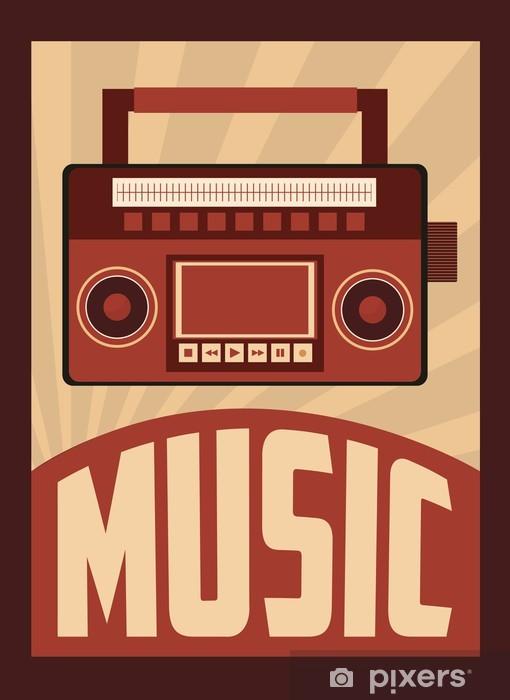 Papier peint vinyle retro music, poster design, vector illustration - Art et création