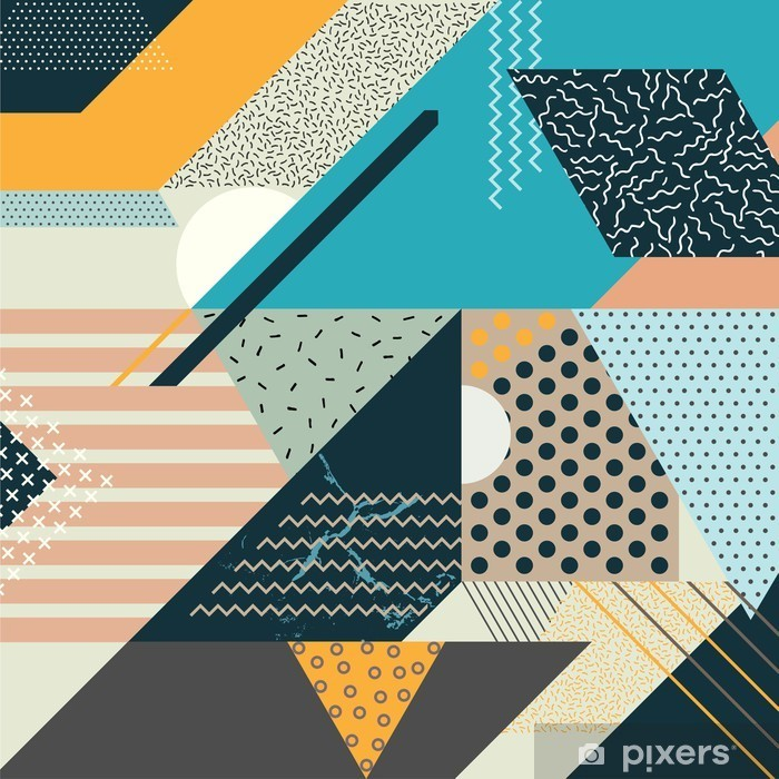 Pixerstick Aufkleber Kunst geometrischen Hintergrund - Canvas Prints Sold