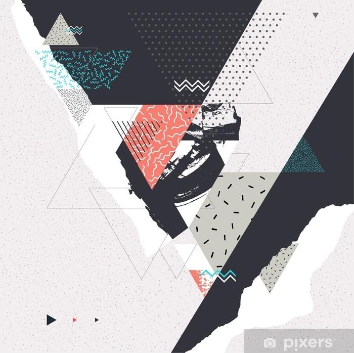 Fototapeta winylowa Streszczenie sztuka tło z elementami geometrycznymi - Zasoby graficzne