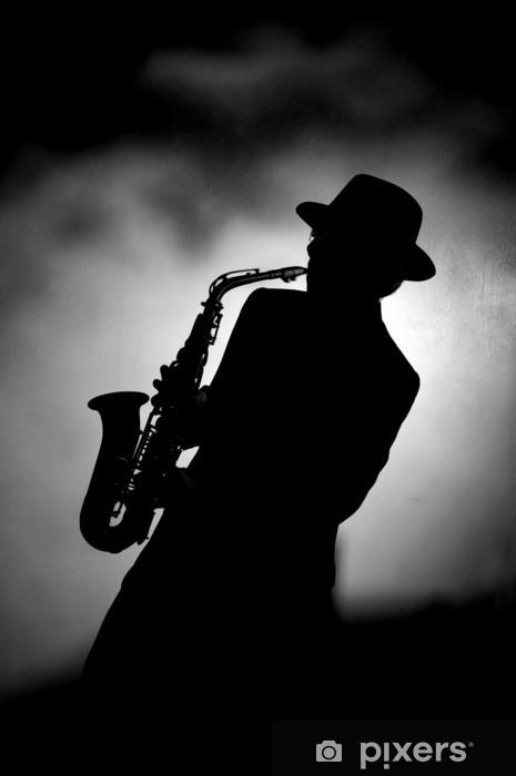 Sticker Pixerstick Jazz saxo - Jazz
