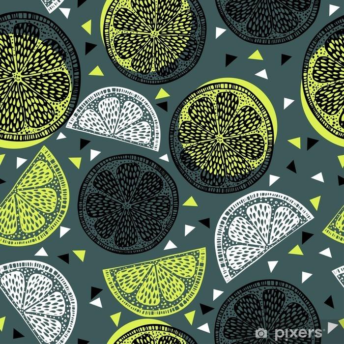 Fototapeta winylowa Citrus graficzny wzór - Jedzenie