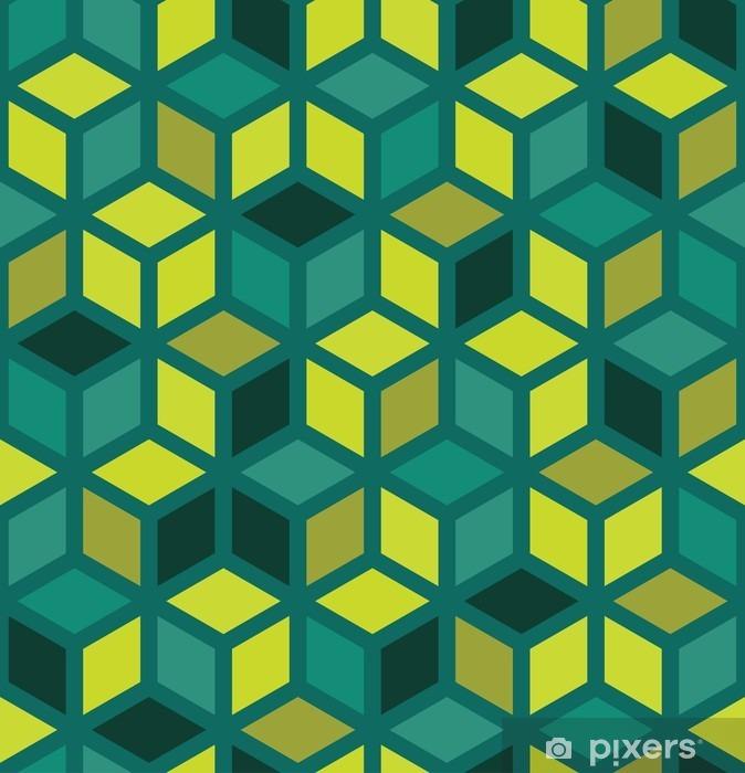 Fotomural Estándar Moderno del vector patrón de colores sin fisuras geometría, fondo geométrico abstracto de color, una almohada de impresión multicolor, retro textura, diseño de moda del inconformista - Recursos gráficos
