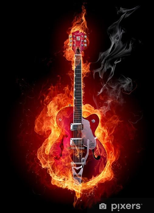 Sticker Pixerstick Fire guitar - Styles
