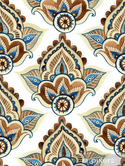 Watercolor indian ornament Vinyl Wall Mural - Graphic Resources