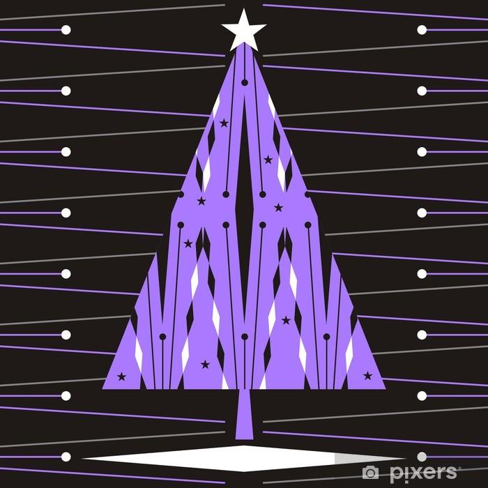 Nálepka Pixerstick Vánoční stromeček - Mezinárodní svátky