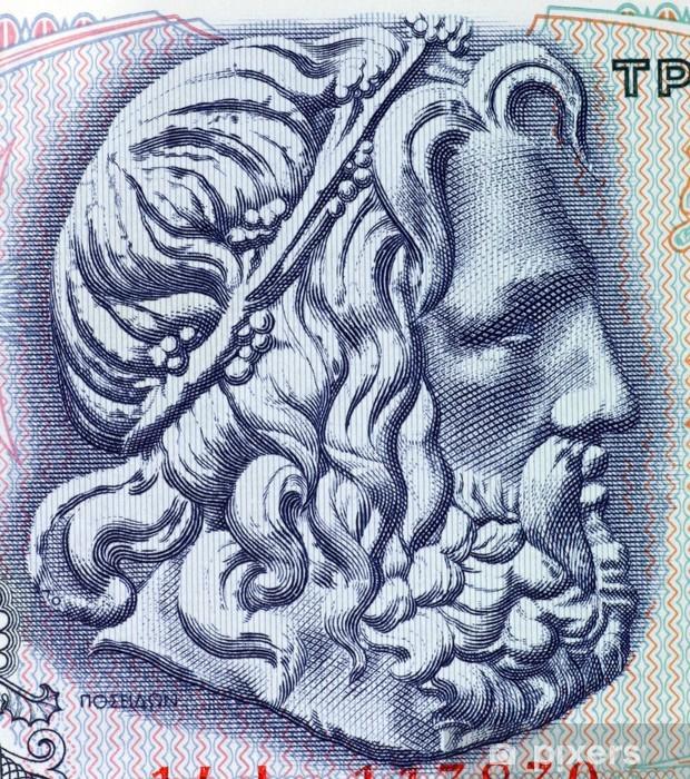 Sticker Pixerstick Poseidon, dieu grec de la mer - Criteo