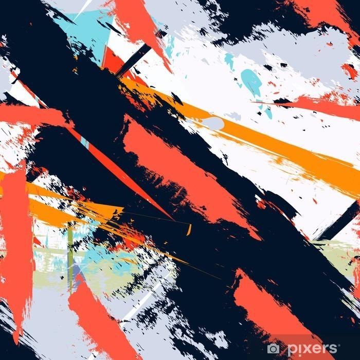 Koc pluszowy Abstract Art grunge awaryjną bez szwu wzór - Hobby i rozrywka
