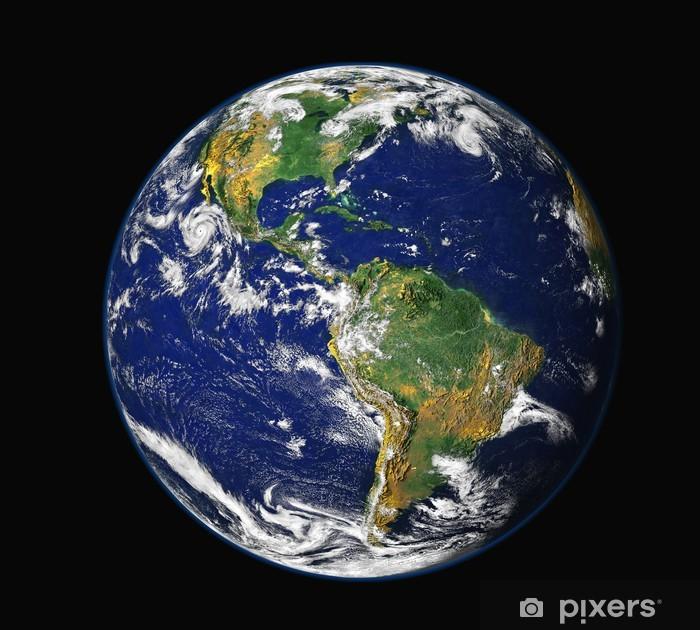 sticker aarde vanuit de ruimte - noord-amerika • pixers® - we leven