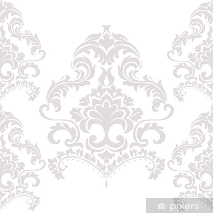 Carta da Parati in Vinile Ornamento di lusso damascato in beige. vettore - Risorse Grafiche