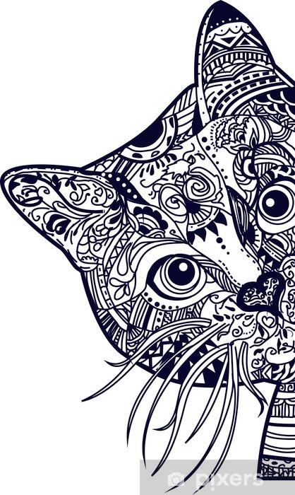 Vinilo para Armario Gato - Animales