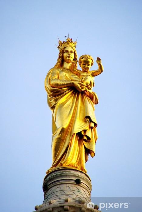 Fototapeta winylowa Dziewicy Maryi i Dzieciątka Jezus, Matka Boża Guard, Marsylia, Francja. - Europa