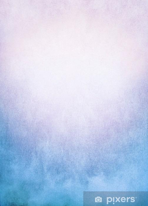 Blå Pink Fog Baggrund / Et baggrundsbillede af tåge, tåge og skyer med en farverig blå til lyserød gradient. Billedet har betydelig tekstur og korn synlig til 100%. Vinyl fototapet - Grafiske Ressourcer
