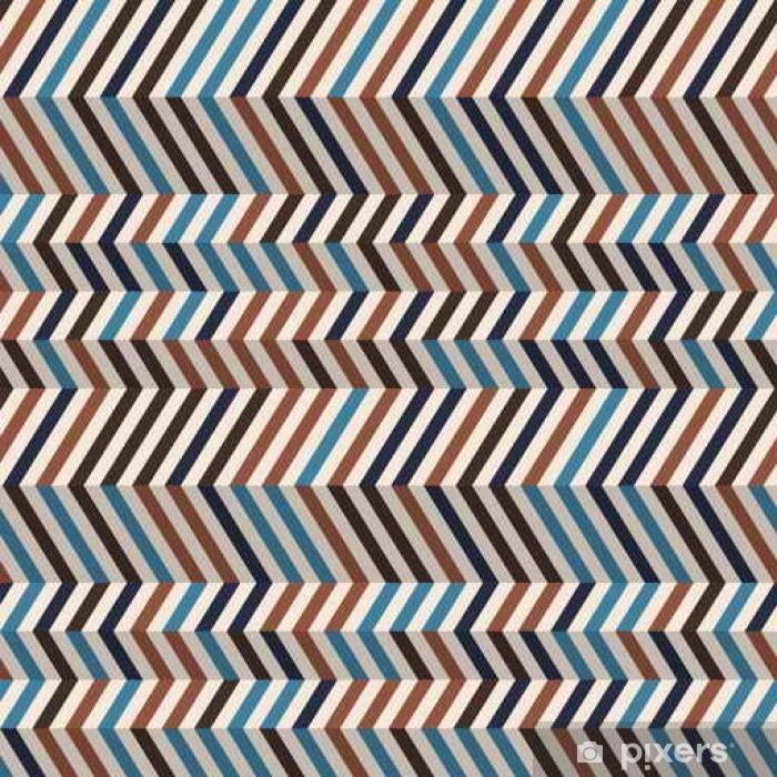 Papier peint vinyle Chevrons mode en couleurs rétro brun - Ressources graphiques