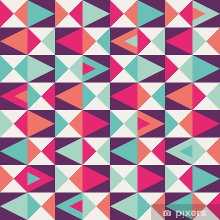 Pixerstick-klistremerke Sømløs geometrisk mønster -