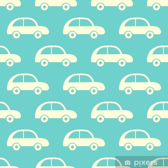 Carta da Parati in Vinile Vector seamless con le automobili - Per cameretta