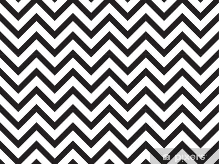 Vinyl Fotobehang Vector moderne naadloze geometrie patroon chevron, zwart en wit abstracte geometrische achtergrond, subtiele kussen print, monochroom retro textuur, hipster modevormgeving - Grafische Bronnen