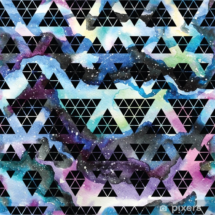 Tribal galaxy seamless pattern. Vinyl Wall Mural - Graphic Resources