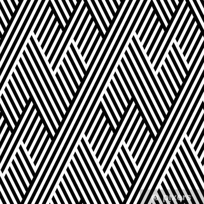 Vector seamless texture. Geometric abstract background. Monochrome repeating pattern of broken lines. Vinyl Wall Mural - Graphic Resources