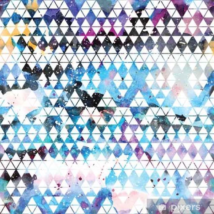 Vinil Duvar Resmi Tribal galaksi seamless pattern. - Grafik kaynakları